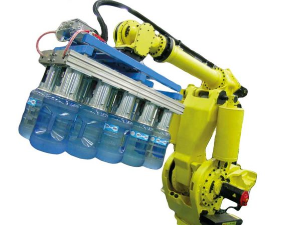 Robotic Water Bottle Palletizing Automation