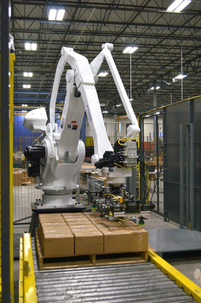 4 eksen paletleme robotu